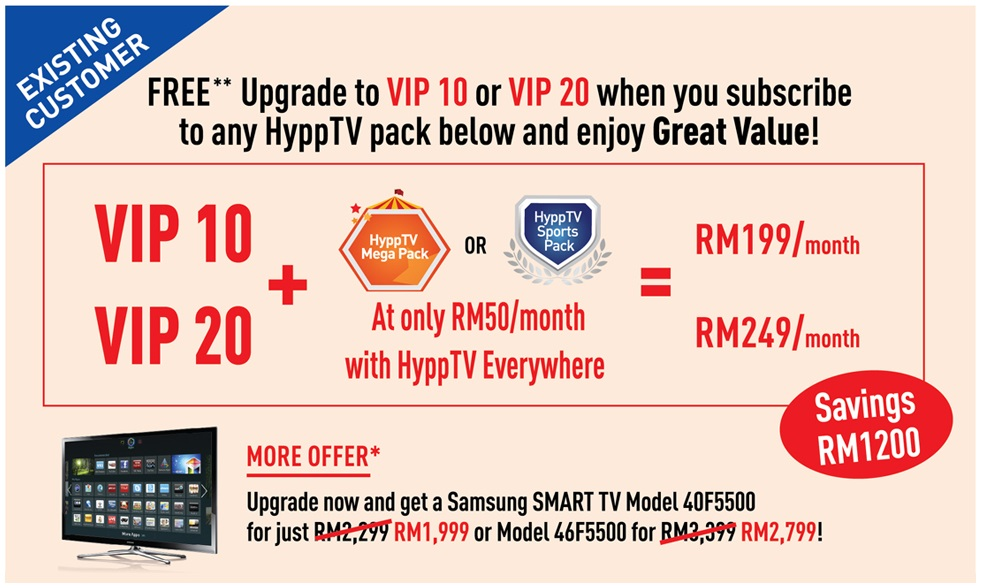 exisitng customer hypptv promotion