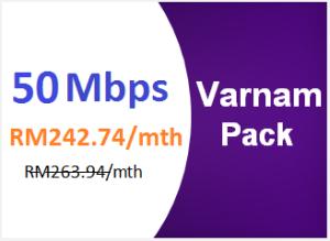 unifi advance 50mbps varnam pack
