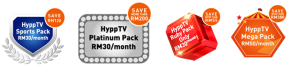 HyppTV Saving Packs