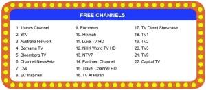 unifi hypptv Free Channels