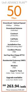 hypptv - unifi advance plan 50mbps