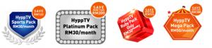 HyppTV Saving Packs and Price