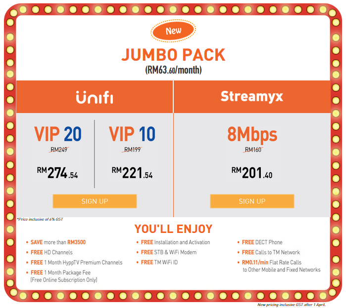Unifi ja jumbo promotion