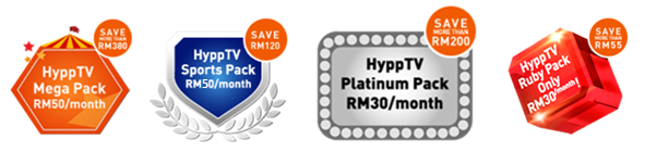 HyppTV Saving Packs and Price